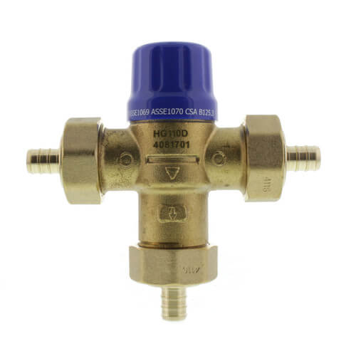 "HG110-D, 1/2"" PEX Thermostatic Mixing Valve (Lead Free) Product Image"