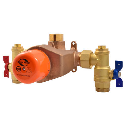"MasterGuard 850, 1-1/4"" x 1-1/2"" Thermostatic Mixing Valve, High Capacity (Lead Free) Product Image"