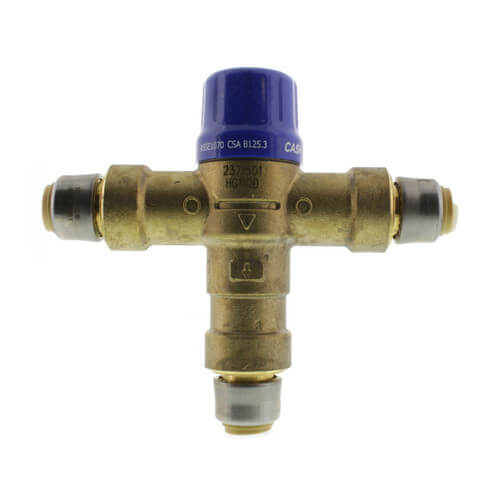 "HG-110D, 1/2"" SharkBite Heatguard Thermostatic Mixing Valve w/ Direct SharkBite Connections (Lead Free) Product Image"