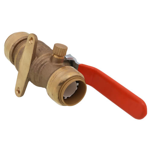 """3/4"""" SharkBite Ball Valve with Drain and Mounting Bracket (Lead Free) Product Image"""