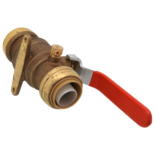 """1"""" SharkBite Ball Valve with Drain and Mounting Bracket (Lead Free) Product Image"""