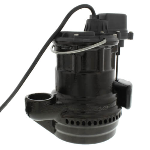1/4 HP Automatic Submersible Pump w/ Magnetic Vertical Float Switch - 115v - 10 ft Cord Product Image