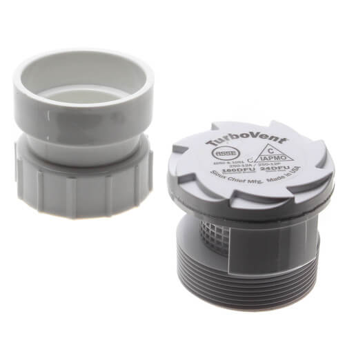 """TurboVent Air Admittance Valve w/ 2"""" Combo Adapter Product Image"""