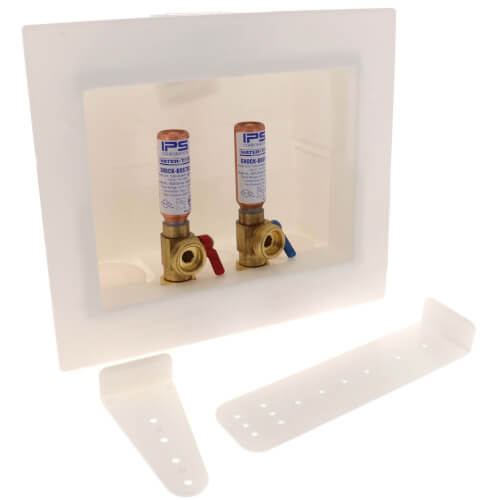Washing Machine Outlet Box w/ Water Hammer Arrestors Product Image