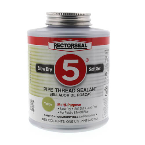 RectorSeal No. 5 Pipe Thread Sealant w/ Brush Top (16 oz.) Product Image