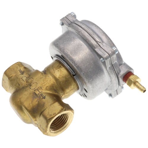 "1/2"" 2-Way N/C Brass Valve Actuator, 10-15 PSI, Female x Female (2.5 Cv) Product Image"