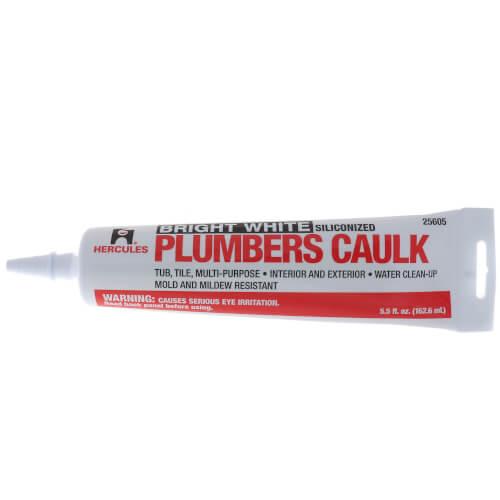 5.5 Fluid Oz. Plumbers Caulk Tube - White Product Image
