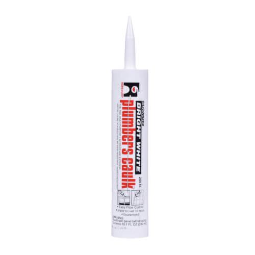 11 Fluid Oz. Cartridge Plumbers Caulk - White Product Image