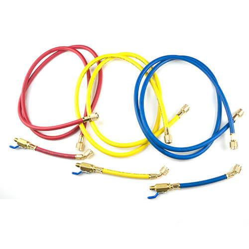 "PLUS II 3-Pack Charging Hoses w/ FlexFlow Valves (72"" Length) Product Image"