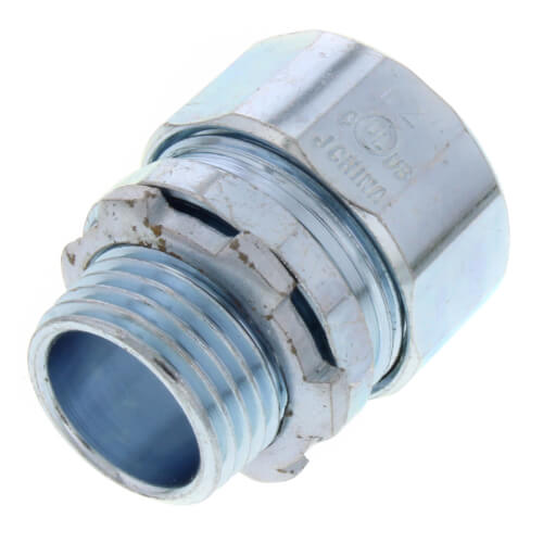 "1/2"" Steel Rigid Compression Connector Product Image"