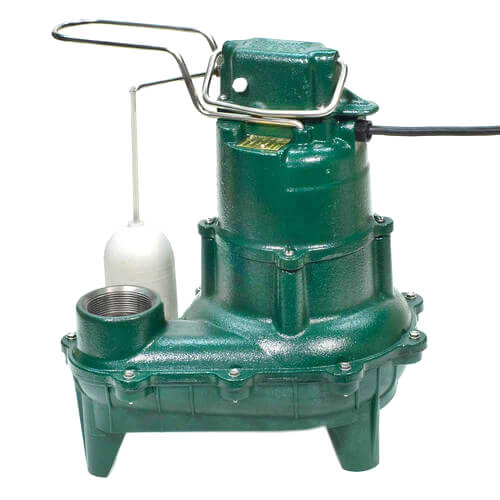 Model BN264 Waste-Mate Cast Iron Sewage Pump w/ Variable Level Float Switch - 115 V Product Image