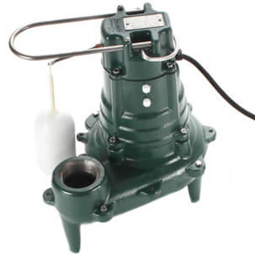 Model M267 Waste-Mate Automatic Cast Iron Sewage Pump - 115 V, 1/2 HP (w/ Plastic Impeller) Product Image