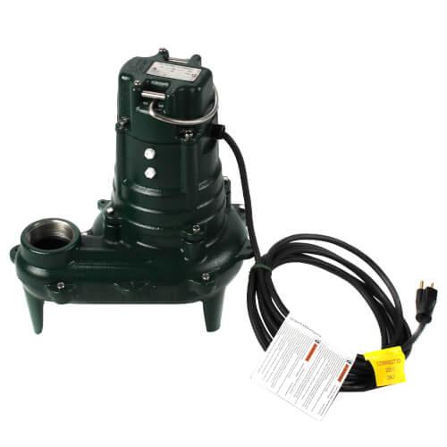Model E267 Waste-Mate Non-Automatic Cast Iron Sewage Pump - 230 V, 1/2 HP Product Image