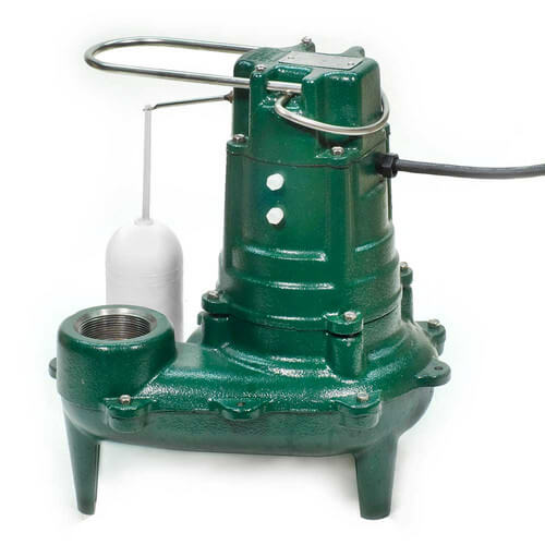 Model M267 Waste-Mate Automatic Cast Iron Sewage Pump - 115 V, 1/2 HP (w/ Cast Iron Impeller) Product Image