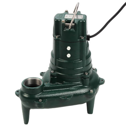 Model N267 Waste-Mate Non-Automatic Cast Iron Sewage Pump w/ Cast Iron Impeller - 115 V, 1/2 HP Product Image