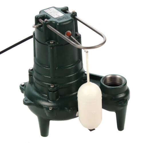 Model M267 Waste-Mate Automatic Cast Iron Sewage Pump - 115 V, 1/2 HP (w/ Cast Iron Impeller) - 15' Cord Product Image