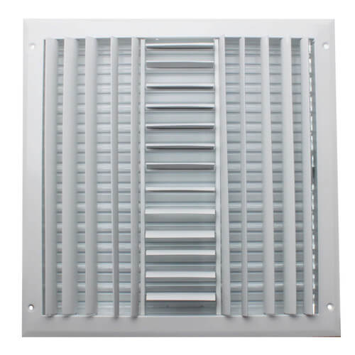 """14"""" x 14"""" (Wall Opening Size) Three-Way White Sidewall/Ceiling Register (A613MS Series) Product Image"""