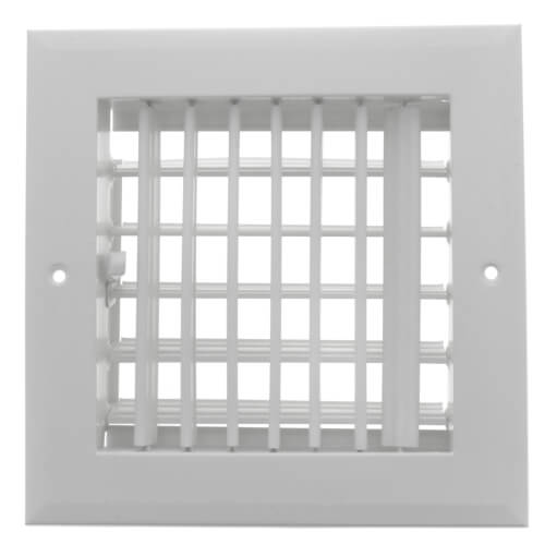 "6"" x 6"" (Wall Opening Size) White Sidewall/Ceiling Register (A618MS Series) Product Image"