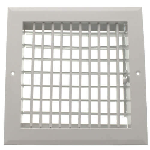 "8"" x 8"" (Wall Opening Size) White Sidewall/Ceiling Register (A618MS Series) Product Image"