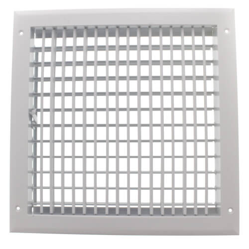 "12"" x 12"" (Wall Opening Size) White Sidewall/Ceiling Register (A618MS) Product Image"