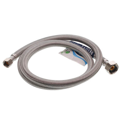 """48"""" Stainless Steel Braided Hose Faucet Connector (3/8"""" Compression x 1/2"""" FIP) Product Image"""