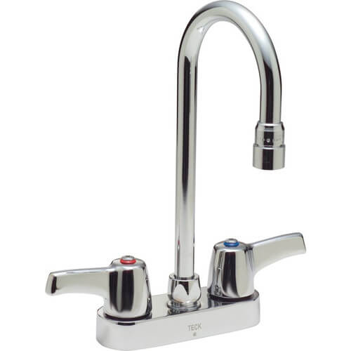 "Commercial Teck Two Handle 4"" Cast Deck Mount Service Sink Faucet Product Image"