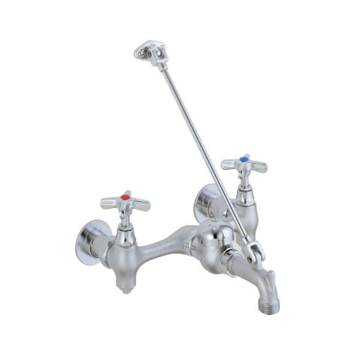 """Commercial Two Handle 8"""" Wall Mount Service Sink Faucet Product Image"""