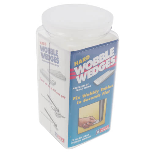 Wobble Wedges - Hard Clear (75 Pieces) Product Image
