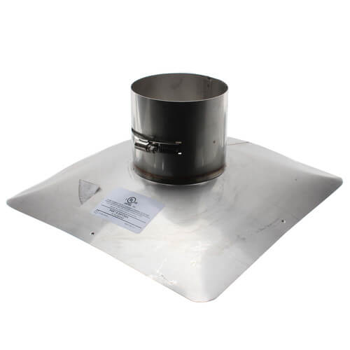 """4"""" Stainless Steel Z-Max Chimney Flashing Product Image"""