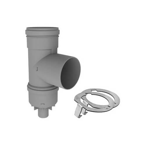 "2"" PolyPro Tee with Drain Cap w/ LB2 Product Image"