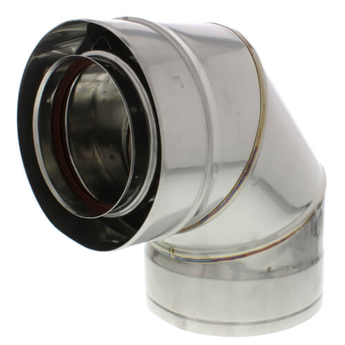 """4"""" x 90° Z-Vent Double Wall Elbow Product Image"""