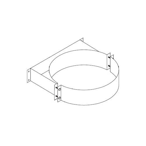 """6"""" Z-Vent Double Wall Vent Support (8"""" OD) Product Image"""