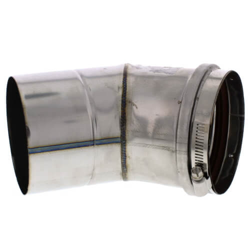 "6"" x 45° Z-Vent Single Wall Elbow Product Image"