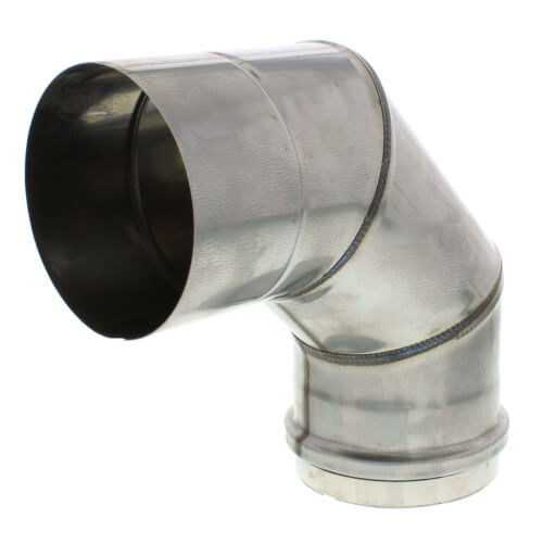 "4"" x 90° Z-Vent Single Wall Elbow Product Image"
