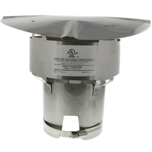 "4"" Stainless Steel Z-Max Rain Cap Product Image"