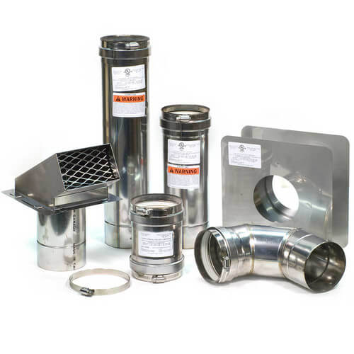 "4"" Z-Vent Water Heater Horizontal Vent Kit w/ Backflow Product Image"