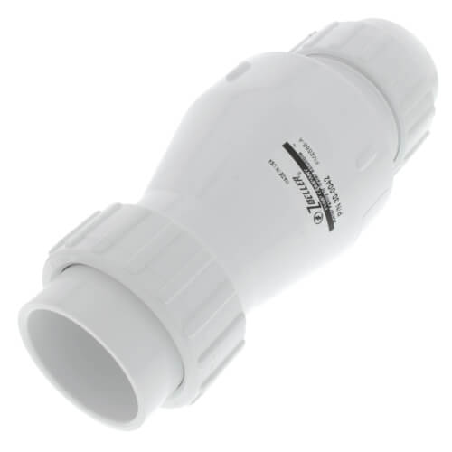 "2"" PVC ""Quiet Check"" Solvent Weld w/ Union Check Valve (White Valve Body) Product Image"