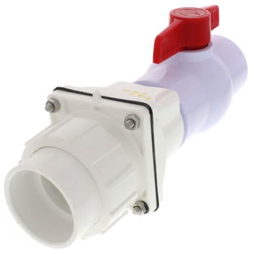 "Zoeller 30-0101 2"" PVC Tri-Check Check Valve/Ball Valve/Union Combination Product Image"
