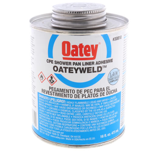 16 oz. Oateyweld CPE Shower Pan Liner Solvent Cement (Milky White) Product Image