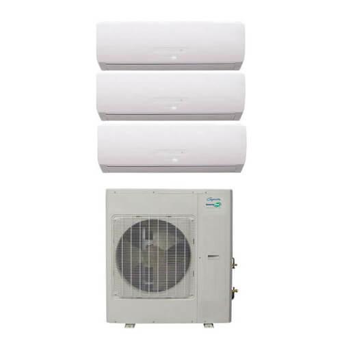 34,000 BTU InverterFlex Three Zone Heat Pump Package (9+18+18) Product Image