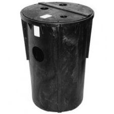"""18"""" x 30"""" PSF Simplex Sewage Basin & Cover w/ 2"""" & 3"""" Vent, 2"""" Discharge Product Image"""