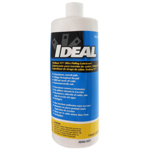 Wire Pulling Lubricant, Yellow 77, Wax-Based, 1 Quart Squeeze Bottle Product Image