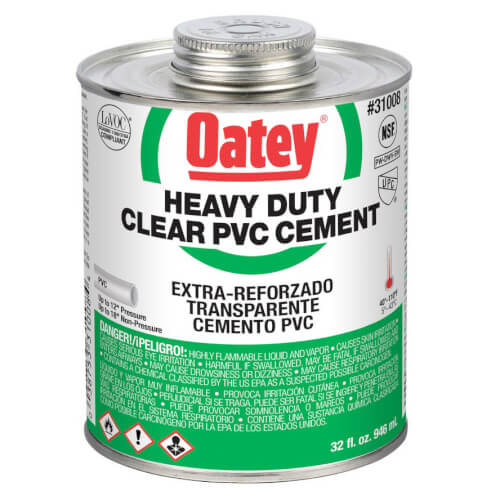 32 oz. Oateyweld Heavy Duty Solvent Cement (Clear) Product Image