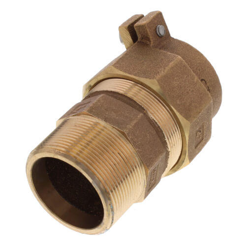 "2"" Pack Joint (CTS) x MNPT Coupling - T-4300NL (No Lead Bronze) Product Image"