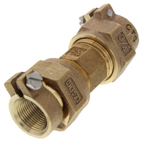 "3/4"" Pack Joint (CTS) Union - T-4301NL (No Lead Bronze) Product Image"