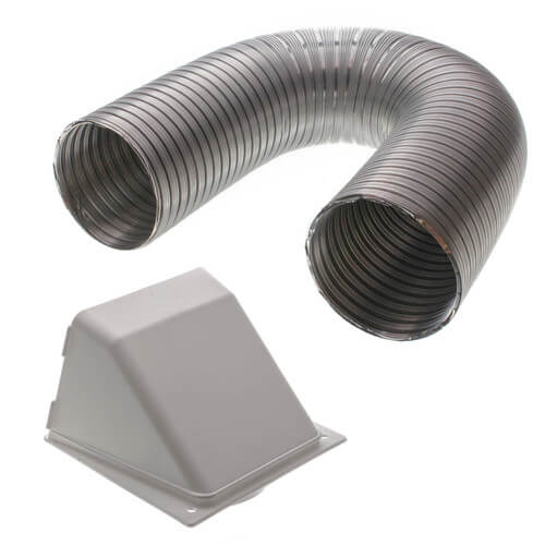 "4"" x 5 Ft. Flexible Aluminum Transition Duct Preferred Hood Vent Kit (White) Product Image"