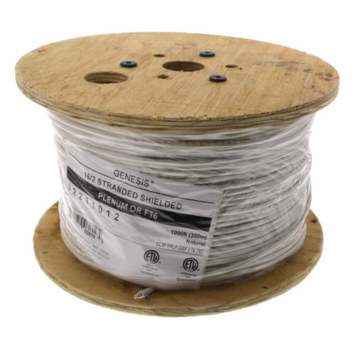 1000 ft - 16/2 Stranded Shielded (OAS) CMP/CL2P (Plenum) Honeywell Genesis Cable Product Image