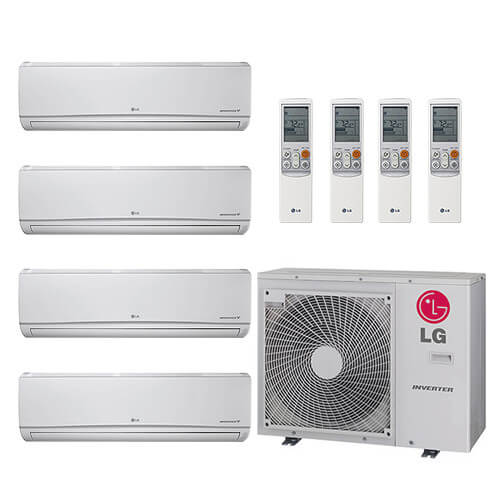 30,000 BTU 22 SEER Ductless Four Zone Heat Pump Package (7+7+7+9) Product Image