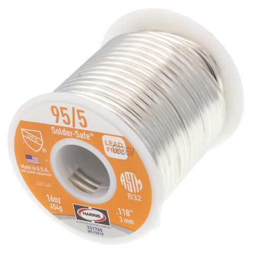 95/5 Lead Free Wire Solder 1 lb. Spool - (95% Tin - 5% Antimony) Product Image