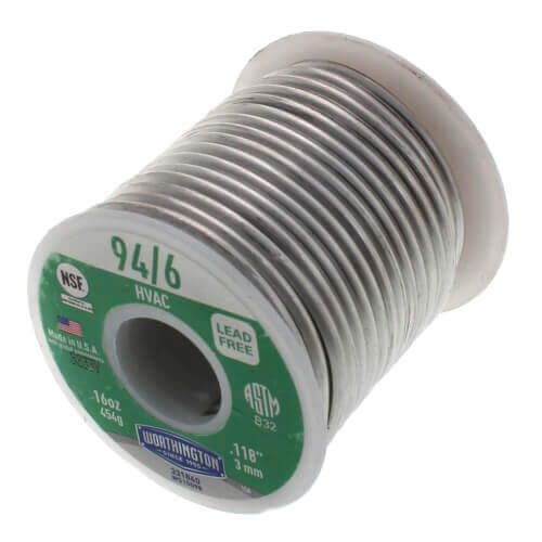 94/6 Lead Free Wire Solder 1 lb. Spool - (94% Tin - 6% Silver) Product Image